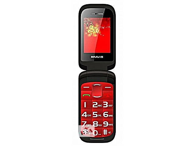 бу Оригинальный Телефон- Раскладушка Bravis.2сим.эк.2.2«Красный,Черный в Одессе