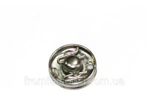 Кнопки пришивные металлические № 3 (20шт/13мм):Серебристый