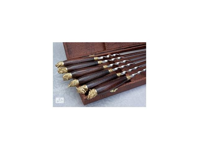 Набор шампуров с деревянными ручками в кейсе- объявление о продаже  в Киеве