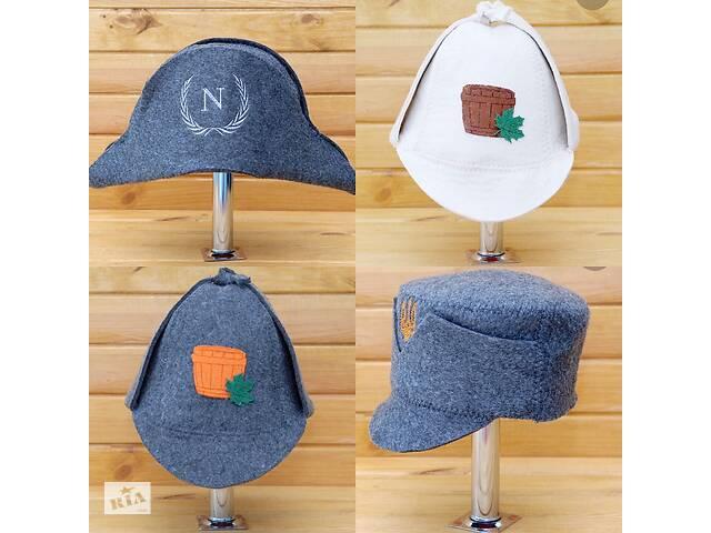 Шапка в баню банная шляпа капелюх банний все для бані