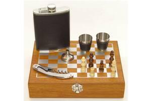 Чоловічий подарунковий набір з флягою і шахами