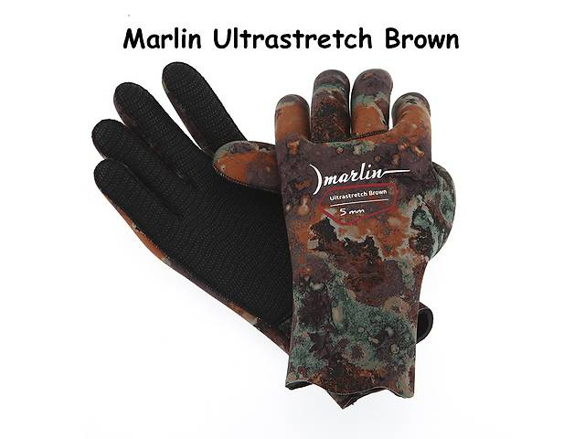 продам Перчатки Marlin Ultrastretch green / brown / oliva (5 мм) бу в Мариуполе (Донецкой обл.)