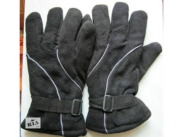 купить бу Перчатки мужские утепленные двойной флис, набивной мех. в Запорожье