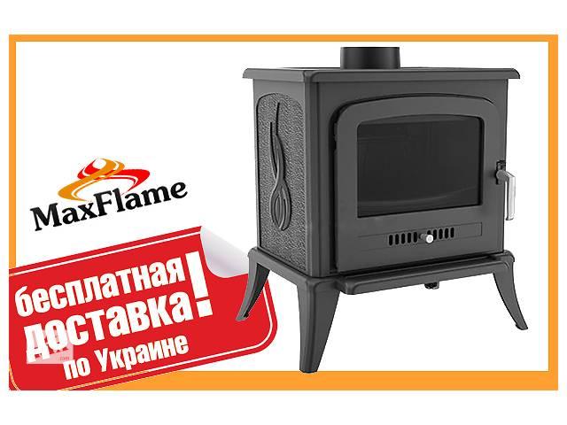 купить бу Печь чугунная отопительная Кratkiі Koza K7 8кВт +Бесплатная доставка! в Львове