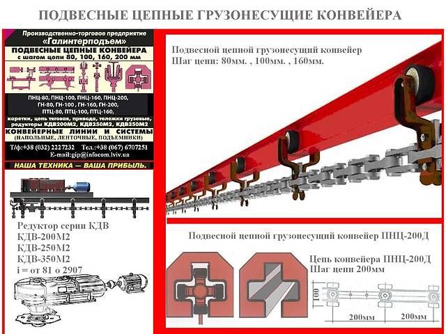 Подвесной цепной вантажоенсучий конвейер- объявление о продаже  в Львове