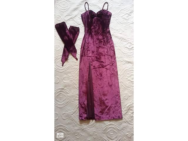 Платье цвета марсала, бордовое вечернее, в единственном экземпляре. Разм. S- объявление о продаже  в Киеве