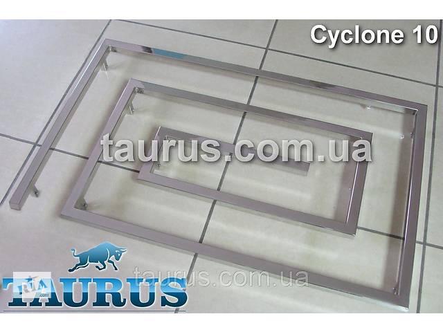 бу Большой дизайнерский полотенцесушитель Cyclone 10 / 670х1100 мм из нержавеющей стали на 10 сегментов в Смілі