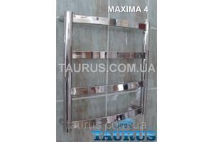 Миниатюрный полотенцесушитель Maxima 4/450х400мм., широкой перемычкой 30х10; Водяной + электроТЭН; + Гибридный