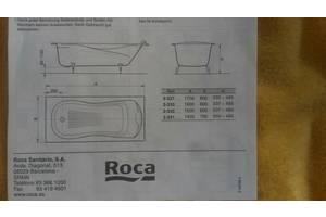 Новые Чугунные ванны Roca