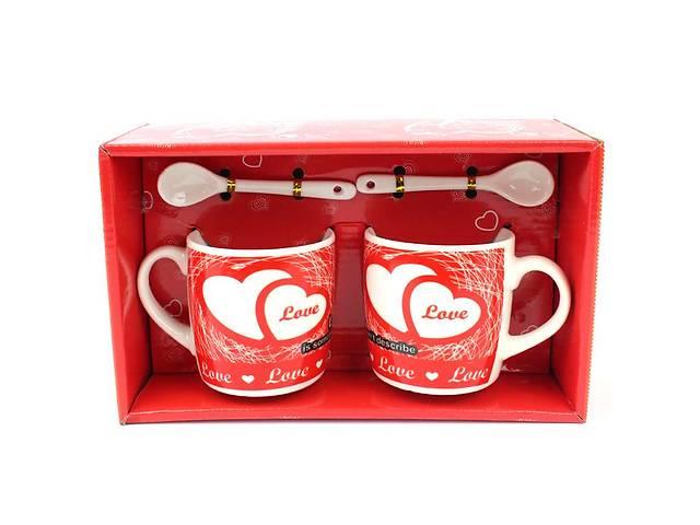 купить бу Подарочный набор из 2х чашек и ложек Love в Киеве