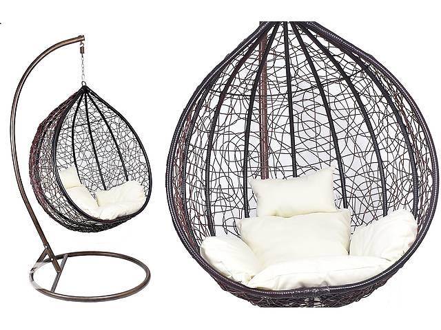 бу Подвесное кресло Canaria MAX XXL, садовая качель кокон Techno ротанг в Львове
