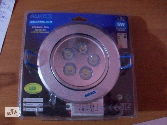 купить бу Потолочный точечный Led светильник 5 W в Киеве
