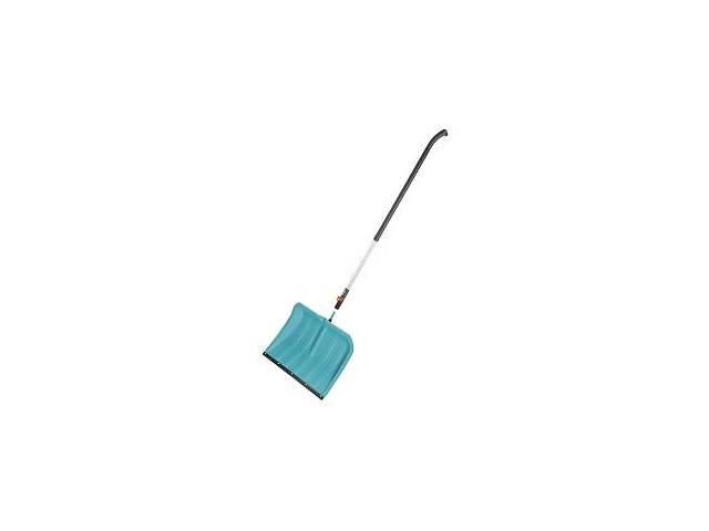продам Лопата для уборки снега Gardena 50 см с пластиковой кромкой и ручка алюминиевая 130 см (03241-30) бу в Киеве