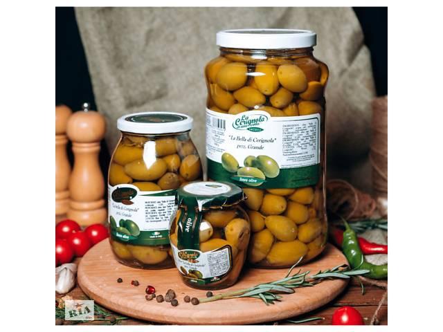 купить бу Большие итальянские оливки 314 мл в Киеве