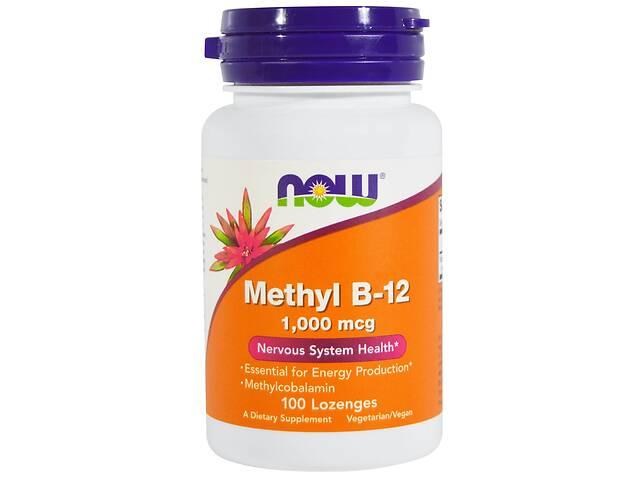 Метилкобаламин (В12) 1000мкг Now Foods 100 таблеток для рассасывания