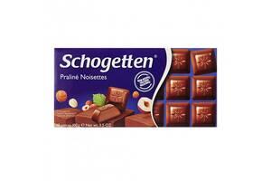 Молочный шоколад с ореховым пралине Schogetten Praline Noisettes 100г