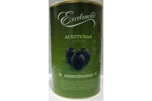 Оливки чорні без кісточоку розсолі 4250 мл Іспанія/Оливки черные без косточок в розсоле 4250 мл Испания
