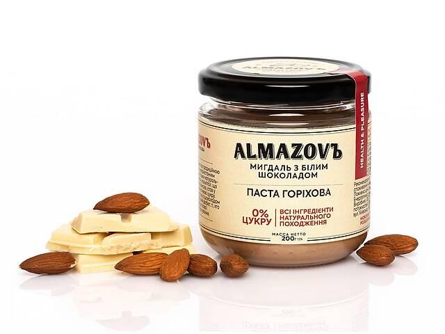 бу Паста ореховая миндаль с белым шоколадом Almazovъ 200г в Кривом Роге