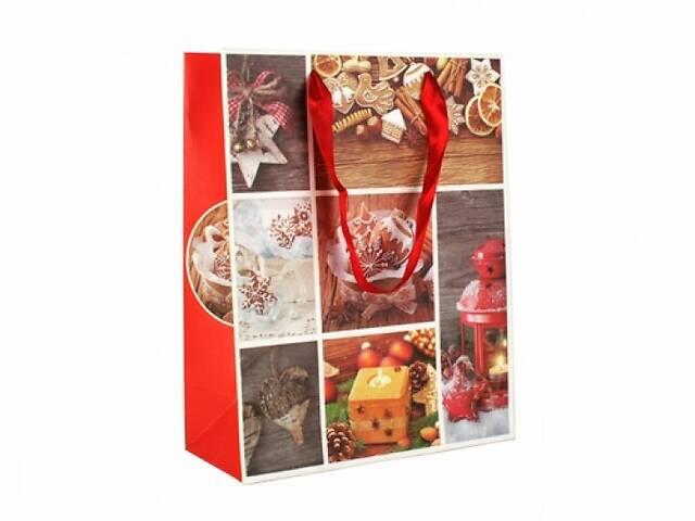 бу Подарочный пакет С Новым годом 23 см  в Украине