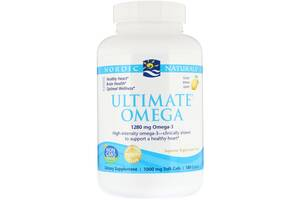 Рыбий жир Nordic Naturals Ultimate Omega Lemon 1.280 мг 180 капсул (NOR03790)