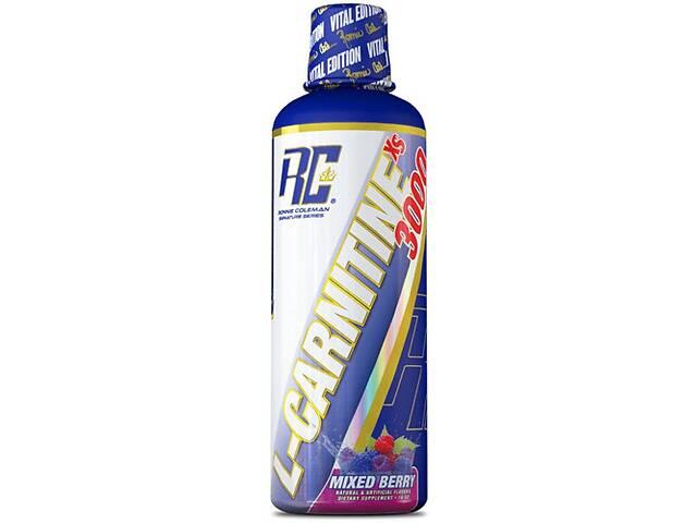 купить бу Жиросжигатель RonnieColemanSS L-Carnitine-XS Liquid 465 мл- mixed berry в Полтаве