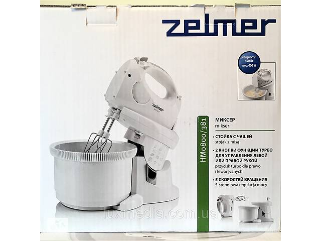 продам Надежный миксер с чашей Zelmer ZHM0806L (венчик для взбивания, для приготовления пюре; насадка для смешивания) бу в Луцьку