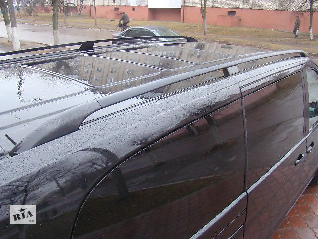 купить бу Рейлинги оригинальные алюминивые черные-матовые Mercedes Vito 639.В наличии на все базы. в Ровно