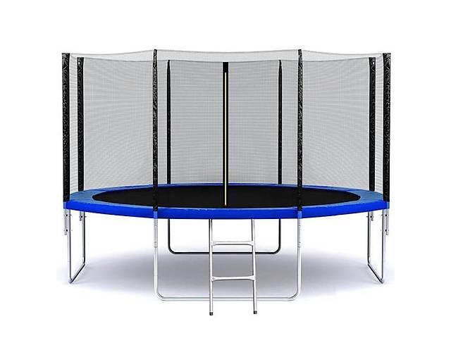 купить бу Батут SkyJump 13 фт., 404 см.з защитной сеткой и лестницей в Львове