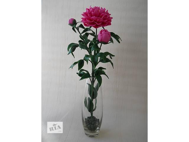 купить бу Розовый пион  из холодного фарфора. Ручная авторская работа. Цветок в подарок. в Запорожье