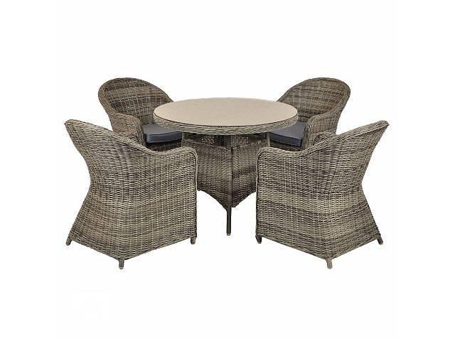 продам Садовая мебель набор из техноротанга 4+1 WICKER ROUND бу в Львове