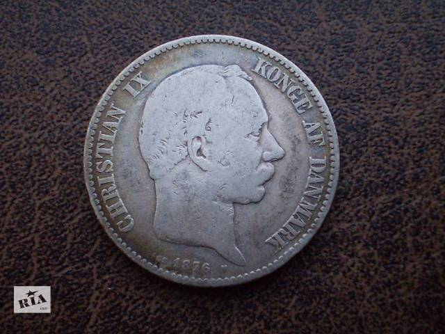 продам Серебро королевство Дания 2 кроны 1875-го года бу в Черновцах