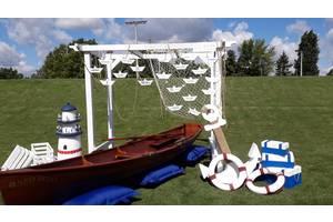 Оренда дерев'яного човна преміум класу для проведення весіль, світських вечорів, інтер'єру.