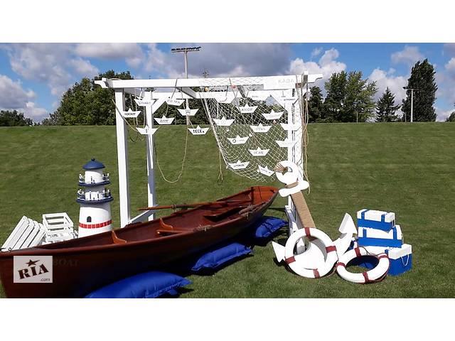 купить бу Аренда деревянной лодки премиум класса для провидения свадеб, светских вечеров, интерьера.  в Украине