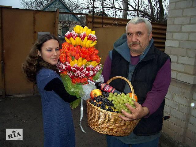 купить бу Доставка цветов и подарков  в Украине