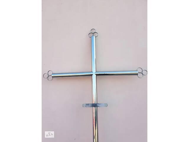 Могильный крест из нержавейки (коррозионно-стойкой стали) с табличкой- объявление о продаже  в Виннице