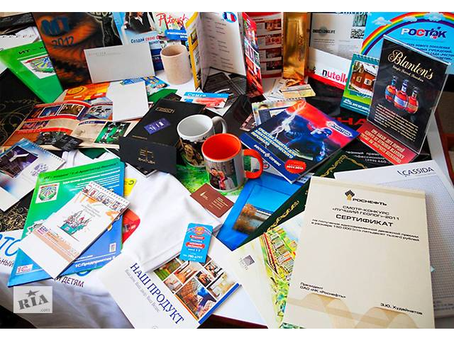 продам полиграфия, печать на ткани, плоттерная порезка, брендирование бу  в Украине