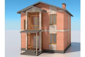 Проект двухэтажного жилого дома 2КЖ-3 м. (050) 178-93-15