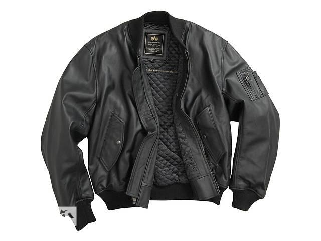 бу Шкіряна чоловіча льотна куртка MA-1 Leather Alpha Industries, США в Львове