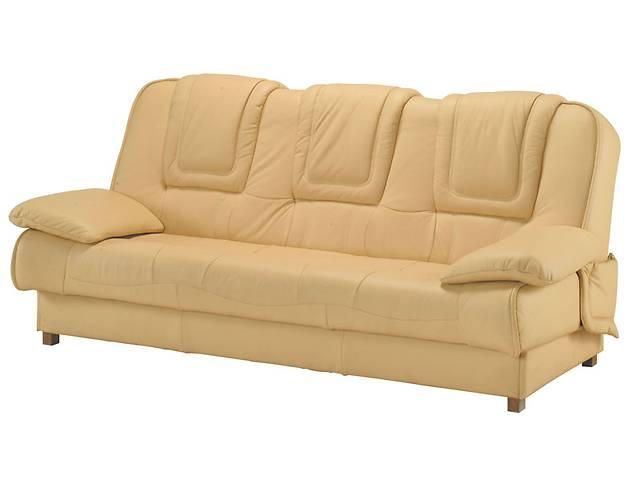 бу Кожаный комплект 3+1+1 раскладной диван + 2 кресла-качалки, кожаная мебель в Дрогобыче
