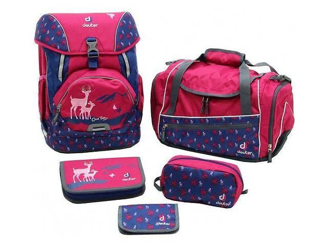 бу Рюкзак Deuter OneTwoSet - Sneaker Bag  с набором школьных принадлежностей (Розовый олень magenta deer) в Одессе