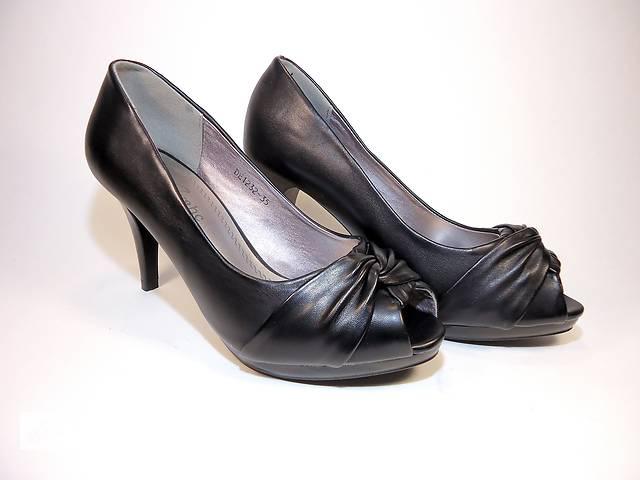 Жіночі літні туфлі на підборах з відкритим носком. Розмір 35-40.- объявление f904fba2a2f3e