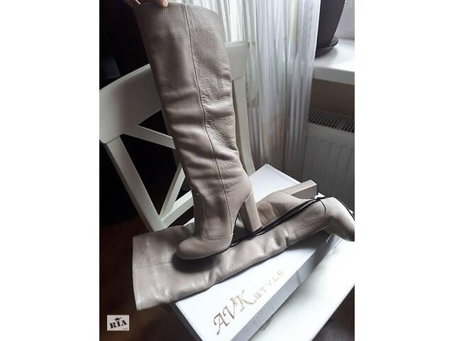 купить бу Зимние теплые кожаные сапоги , сапожки еврозима, фирменные, обмен в Киеве