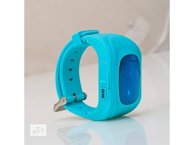 купить бу детские смарт часы телефон Q50 с датчиком GPS определения положения ребенка на карте в Харькове