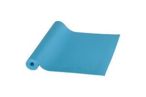 Коврик (мат) для йоги и фитнеса SportVida PVC 4 мм SV-HK0051 Blue