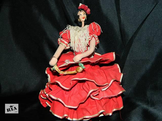 продам Старая Войлочная Кукла Spanish Flamenco Dancer Doll Roldan 1950 бу в Тернополе