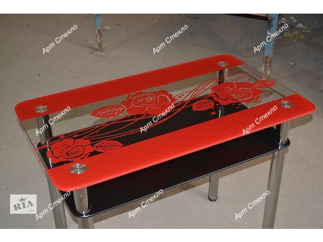 купить бу Стеклянный стол для куни. Большой выбор размеров, рисунков, расцветок и форм в Дружковке