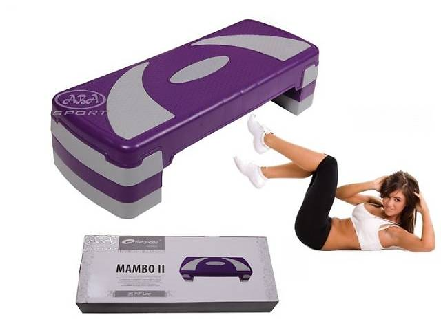 продам Степ платформа для аэробики фитнес 3 ступенчатый Spokey Mambo! бу в Львове