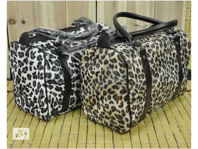 продам Стильная и удобная велюровая женская сумка под леопард бу в Запорожье