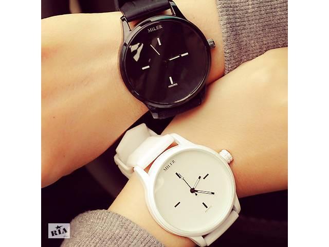 Стильные крутые наручные часы Miller Original белые черные