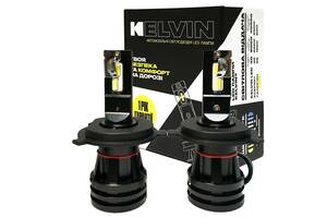 Светодиодные автолампы H4 Kelvin Mseries Led лампы для авто 8000Lm 6000K